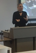 Professor Clare Hemmings speaking at the 2016 ECR pre-conference event.